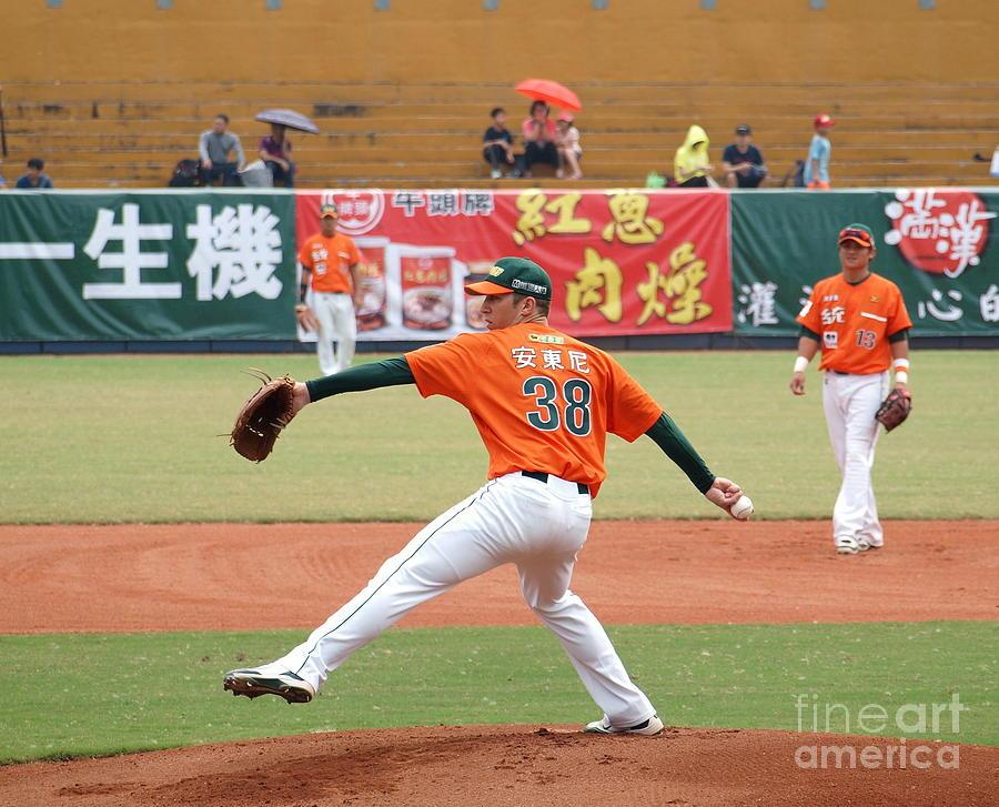 Sports Photograph - Professional Baseball Game In Taiwan by Yali Shi