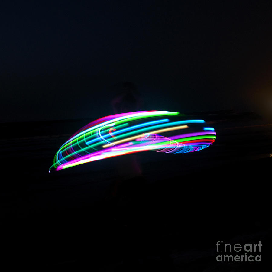 Psychedelic Photograph - Psychedelic Hula Hoop by Ilan Rosen