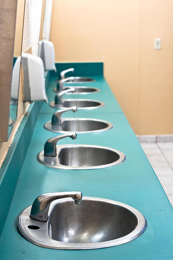 Architecture Photograph - Public Restroom by Tom Gowanlock