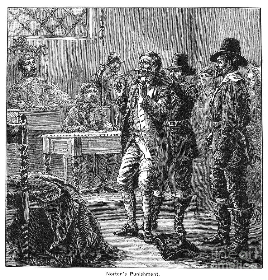 Colonist Photograph - Puritan Punishment by Granger