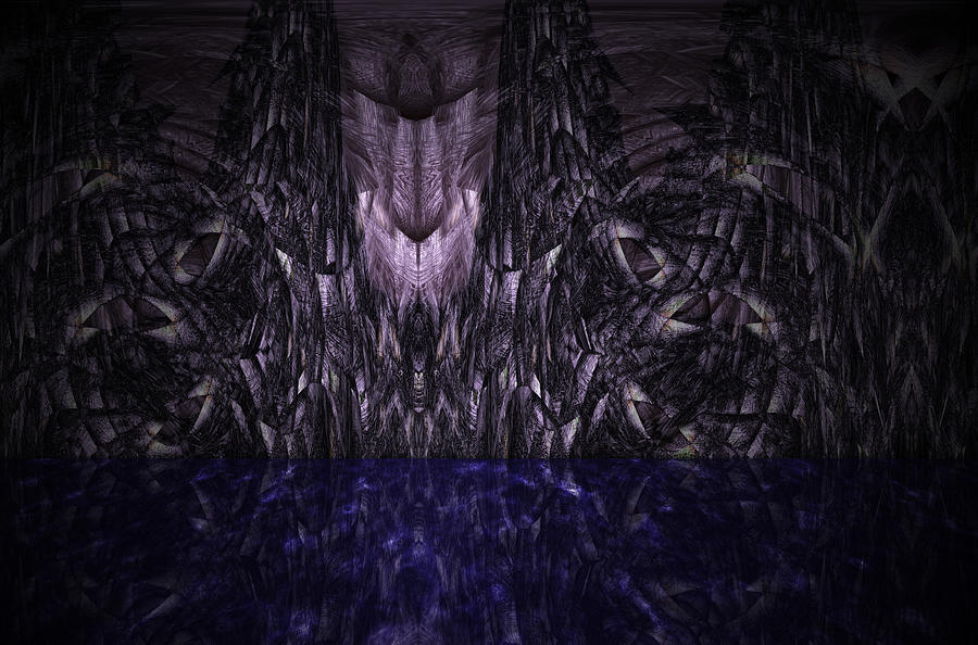Purple Painting - Purple Caverns by Christopher Gaston