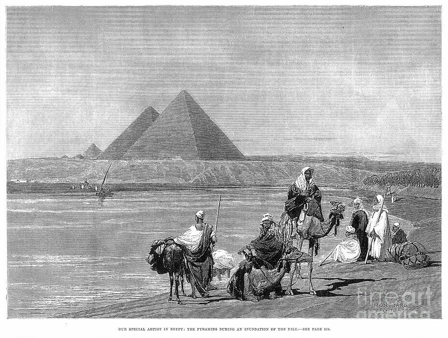 1882 Photograph - Pyramids At Giza, 1882 by Granger