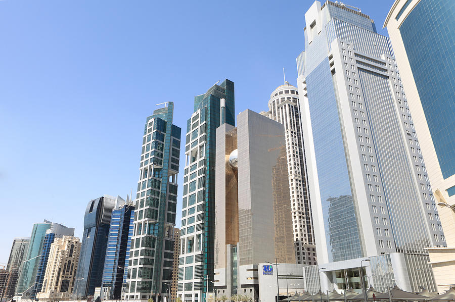 Doha Photograph - Qatars Financial Front Line by Paul Cowan