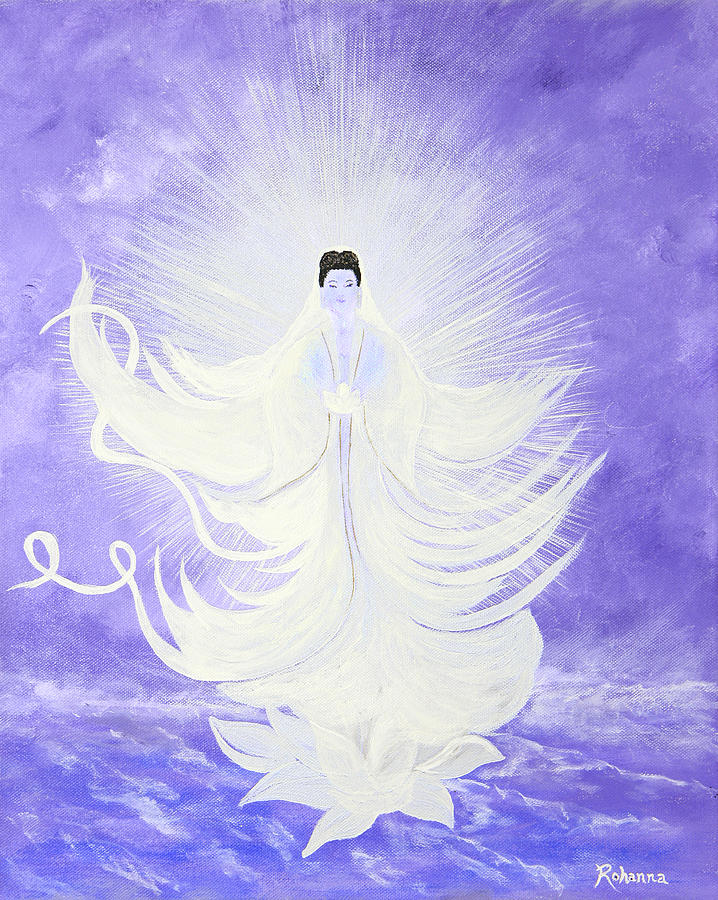 Goddess Painting - Quan Yin by Judy M Watts-Rohanna