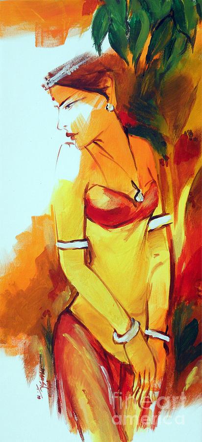 Radha Painting - Radha by Manish Verma