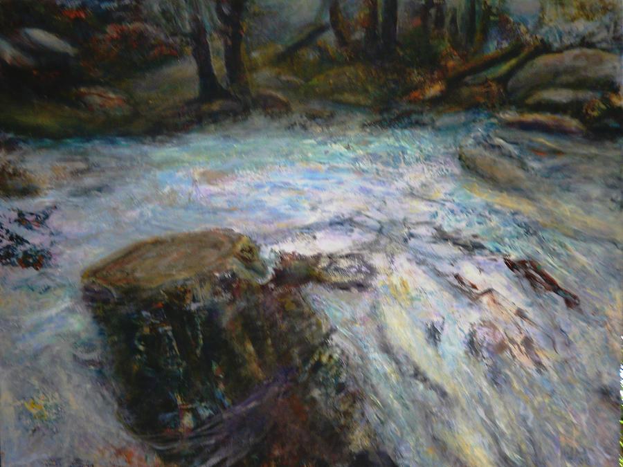 Landscape Painting - Raging River by Sylva Zalmanson