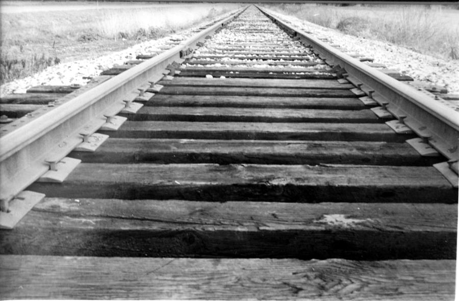 Black And White Photograph - Railroad Tracks by Michael Ringwalt