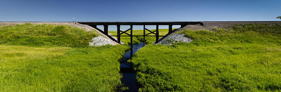 Americas Photograph - Railroad Trestle by Roderick Bley