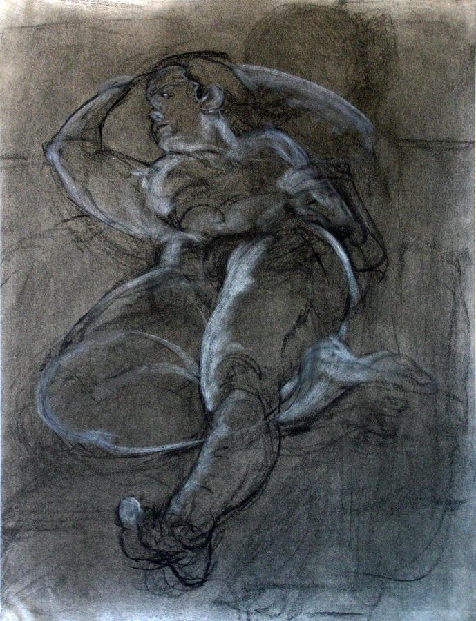 Reclining Nude 1 Drawing By Marina Nemtseva-4492