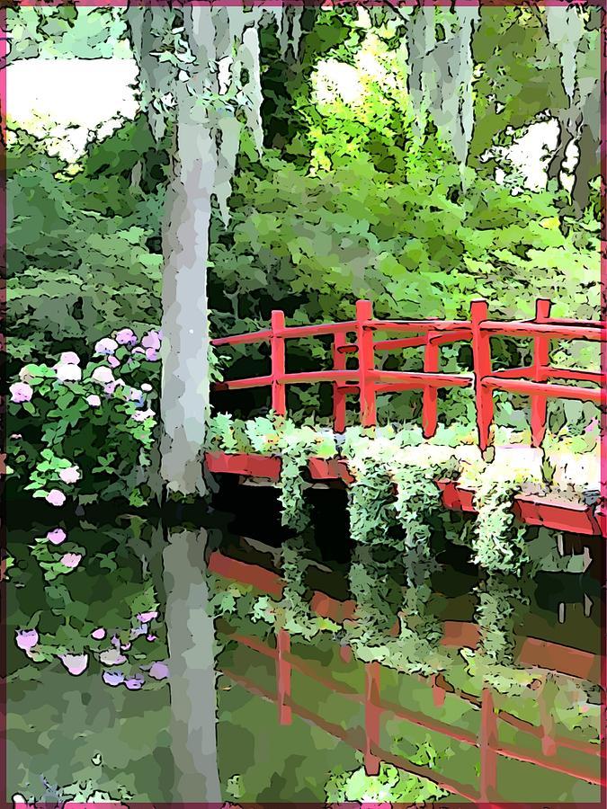 Bridge Painting - Red Bridge by Mindy Newman