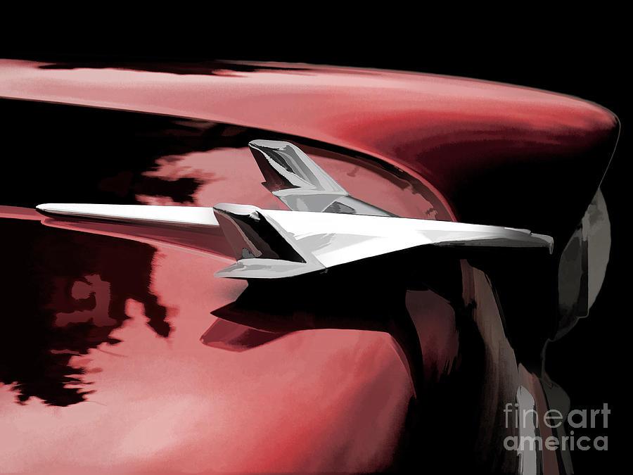 Automotive Digital Art - Red Chevy Jet by Douglas Pittman