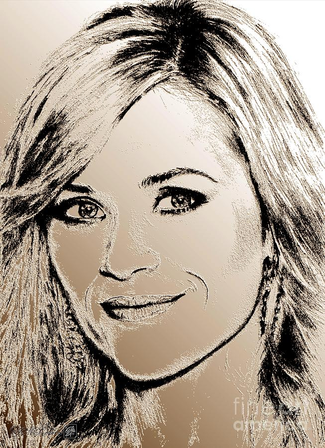 Reese Witherspoon Digital Art - Reese Witherspoon In 2010 by J McCombie