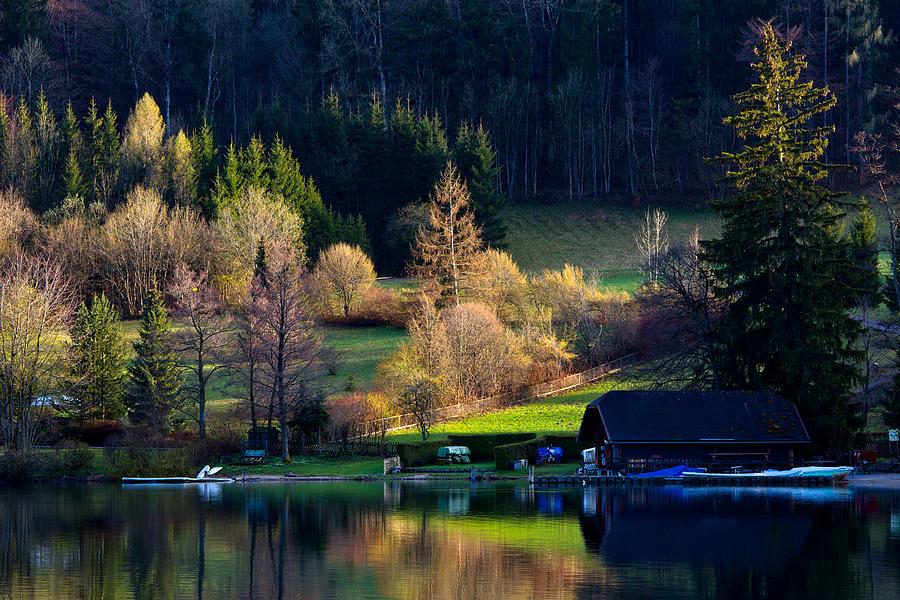 House Photograph - Reflex On Fushl Lake Salzburg Austria by Arthit Somsakul