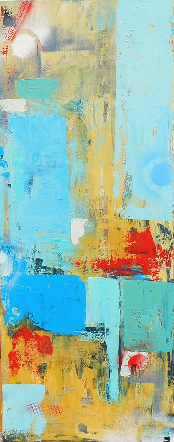 Abstract Mixed Media - Remnants I by Lydia Farquhar