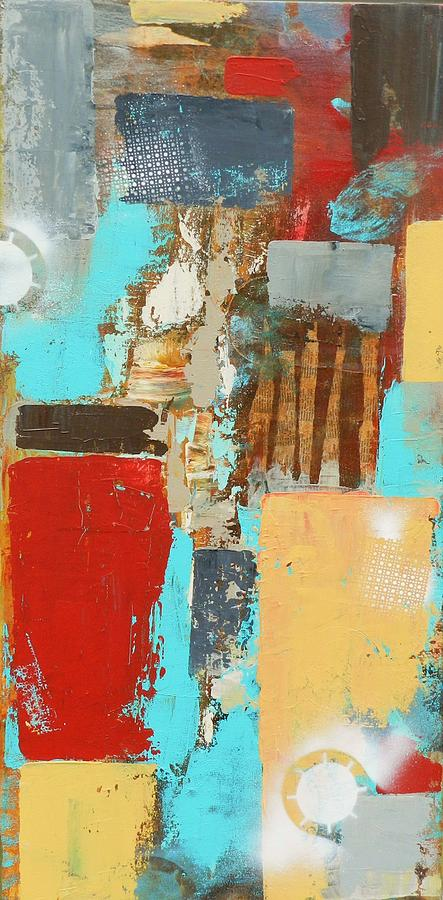 Abstract Mixed Media - Remnants II by Lydia Farquhar