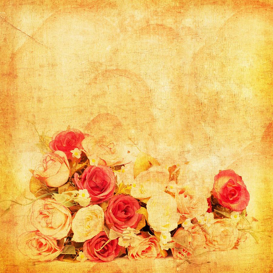 Abstract Photograph - Retro Flower Pattern by Setsiri Silapasuwanchai