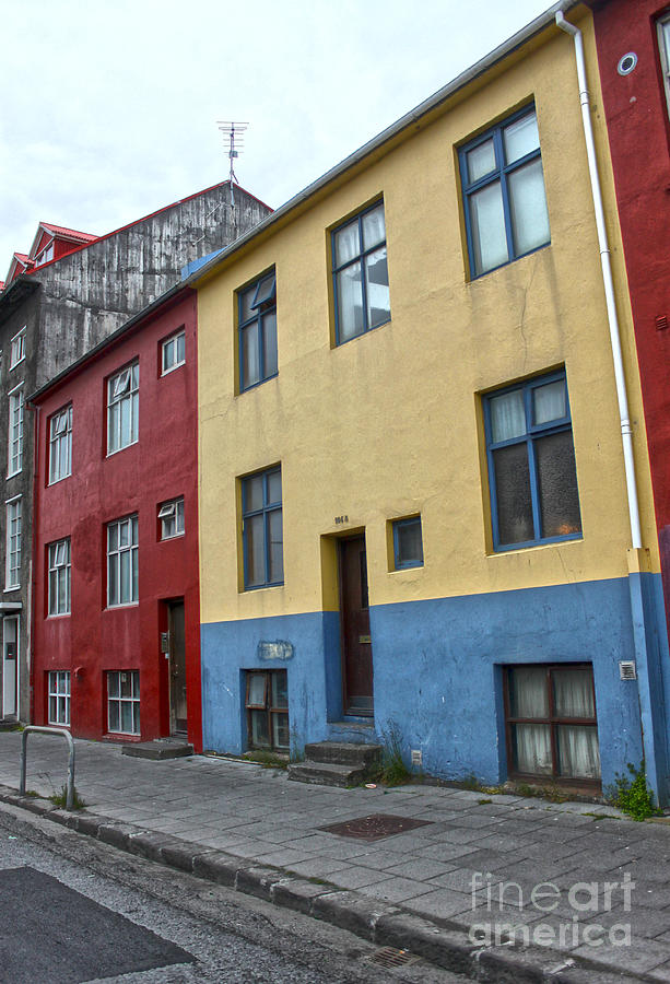 Reykjavik Iceland - Colorful House Photograph by Gregory Dyer