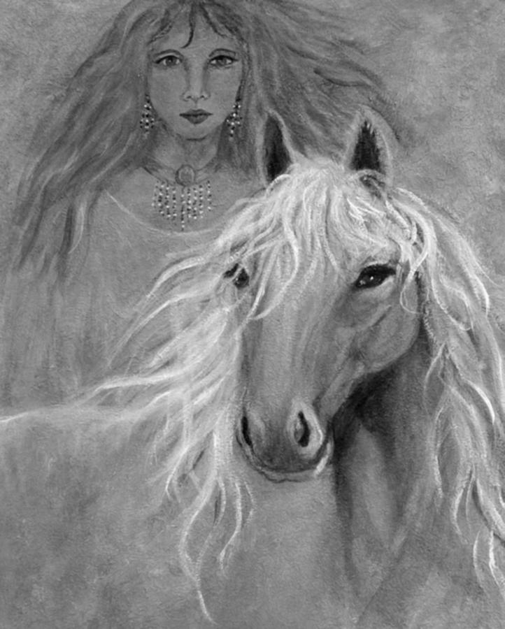 Horse Mixed Media - Rhiannon by The Art With A Heart By Charlotte Phillips