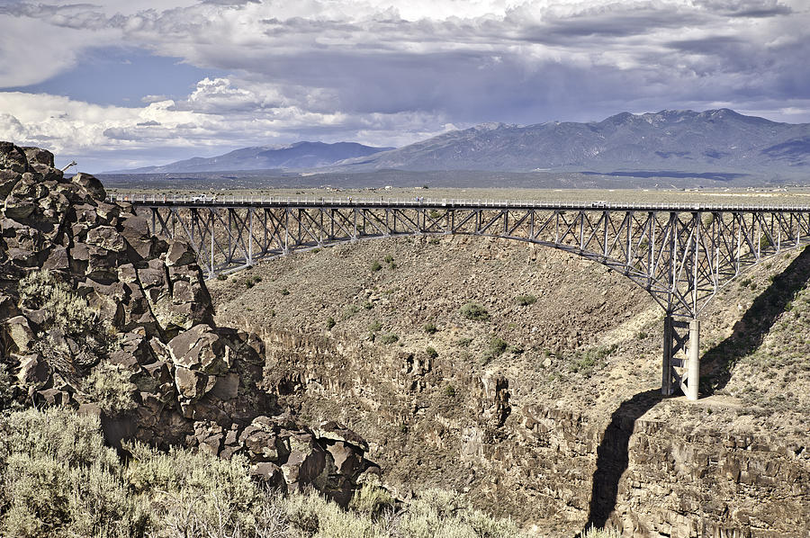 Architecture Photograph - Rio Grande Gorge Bridge by Melany Sarafis