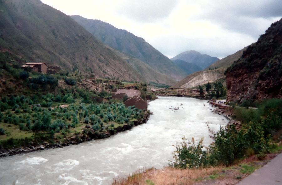Rio Urubamba Digital Art - River Urubamba Through The Sacred Valley Of The Incas by Ronald Osborne
