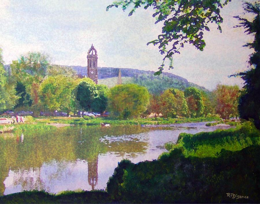 River Walk Reflections Peebles Painting