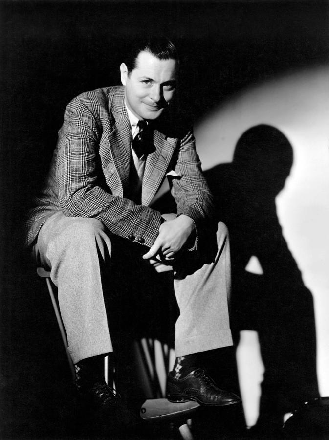 Cuffed Pants Photograph - Robert Montgomery, Mgm Portrait by Everett