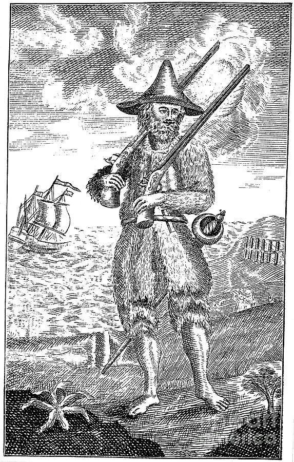 1744 Photograph - Robinson Crusoe by Granger