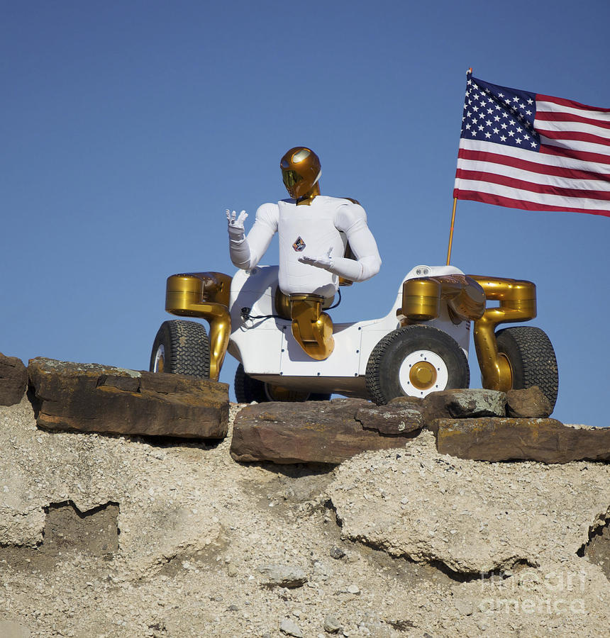 Robot Photograph - Robonaut 2 Poses Atop Its New Wheeled by Stocktrek Images