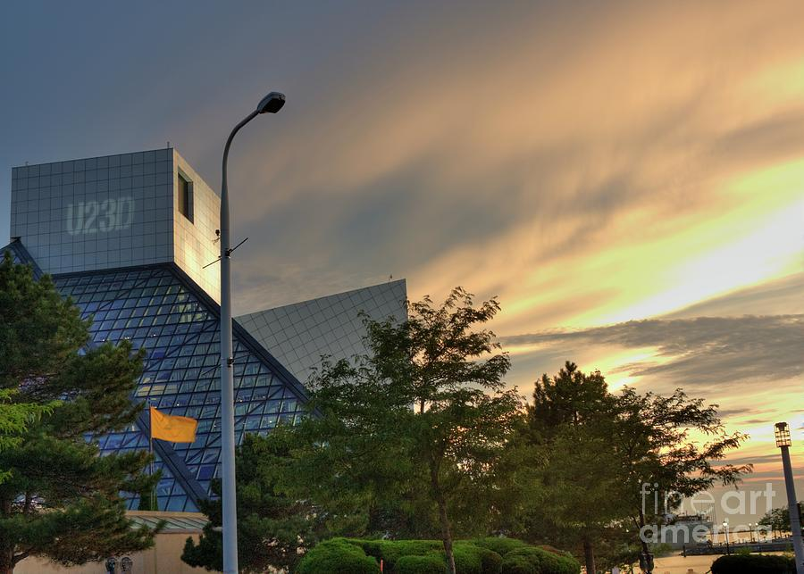 Cleveland Ohio Photograph - Rock And Roll Hall Of Fame by David Bearden
