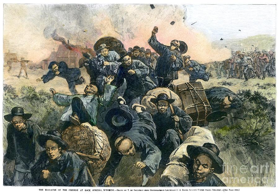 1885 Photograph - Rock Springs Massacre by Granger