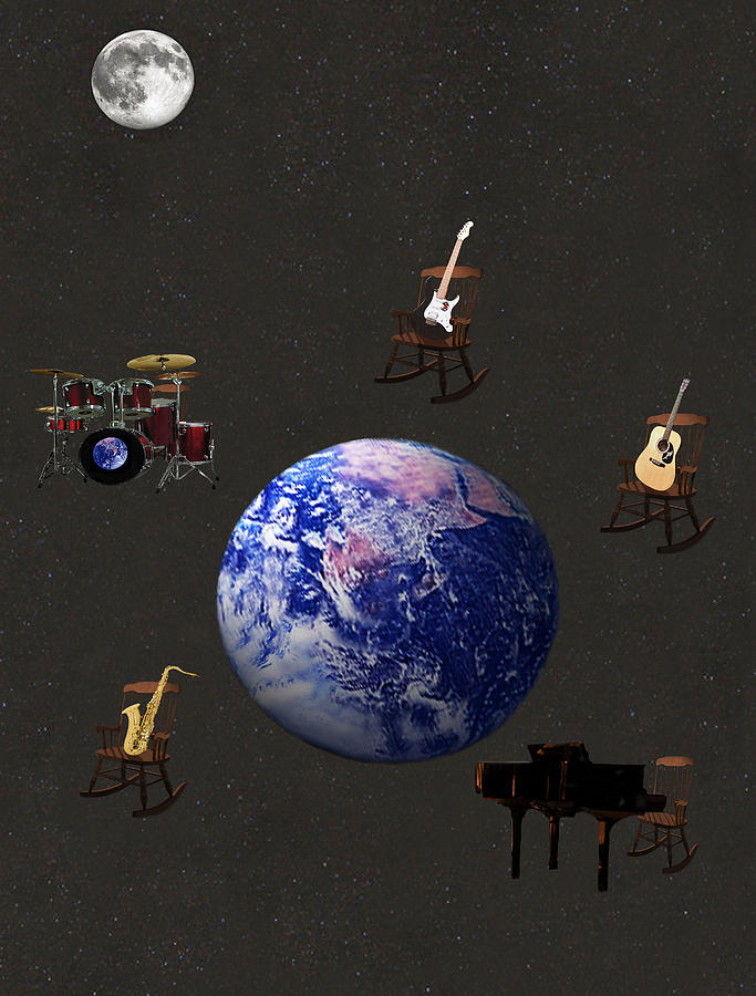 Rock The World Mixed Media - Rocking All Over  The World by Eric Kempson