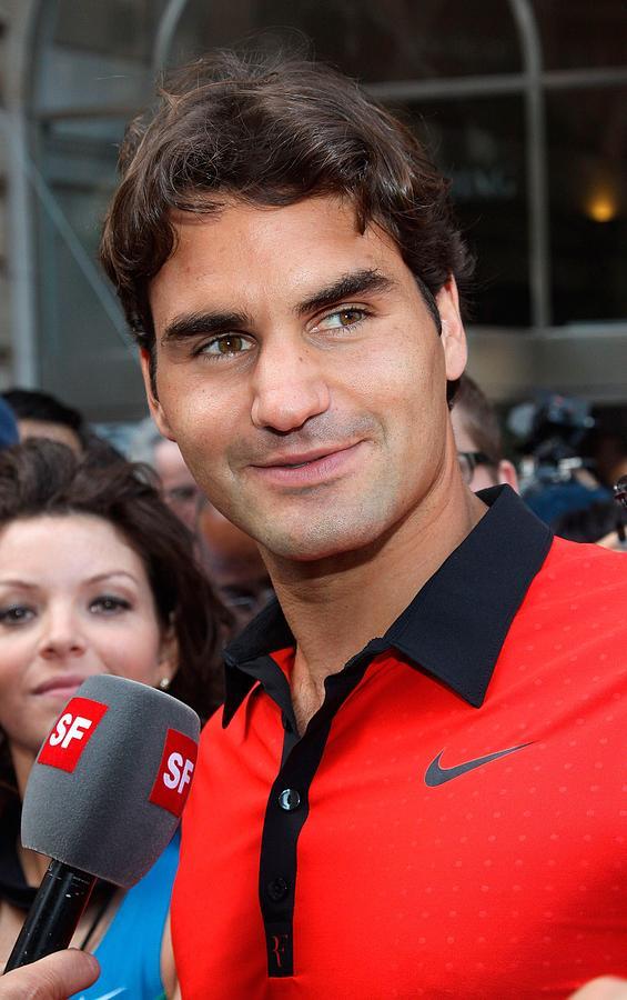 Roger Federer Photograph - Roger Federer At A Public Appearance by Everett