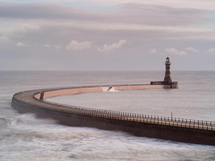 Horizontal Photograph - Roker Pier And Lighthouse, Sunderland, Uk by Jason Friend Photography Ltd