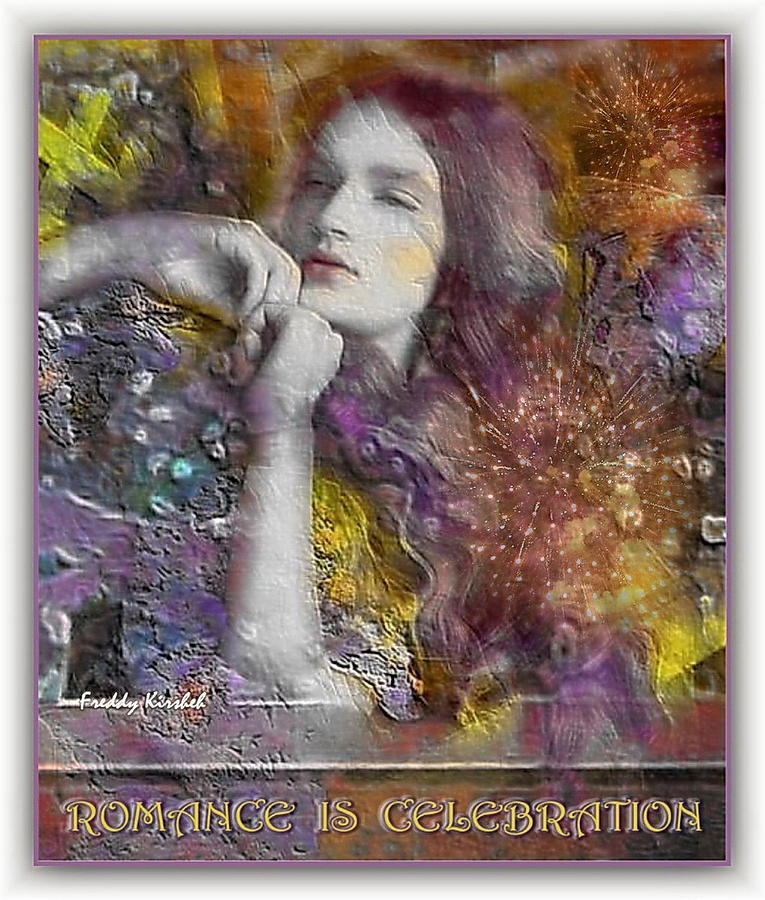 Portrait Mixed Media - Romance by Freddy Kirsheh
