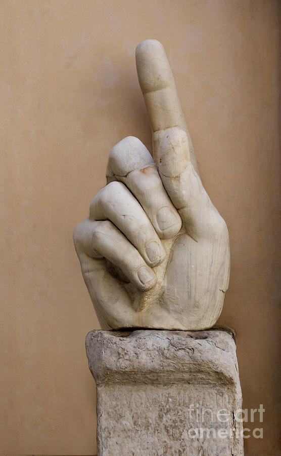 Works Photograph - Rome Italy. Capitoline Museums Emperor Marco Aurelio by Bernard Jaubert