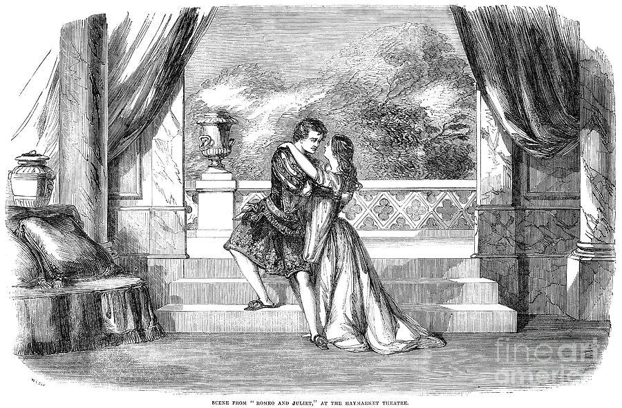 1855 Photograph - Romeo & Juliet by Granger