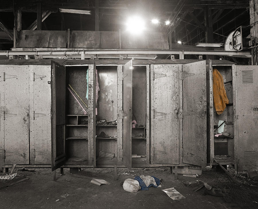 Hand-colored Photograph - Roundhouse Lockers by Jan W Faul