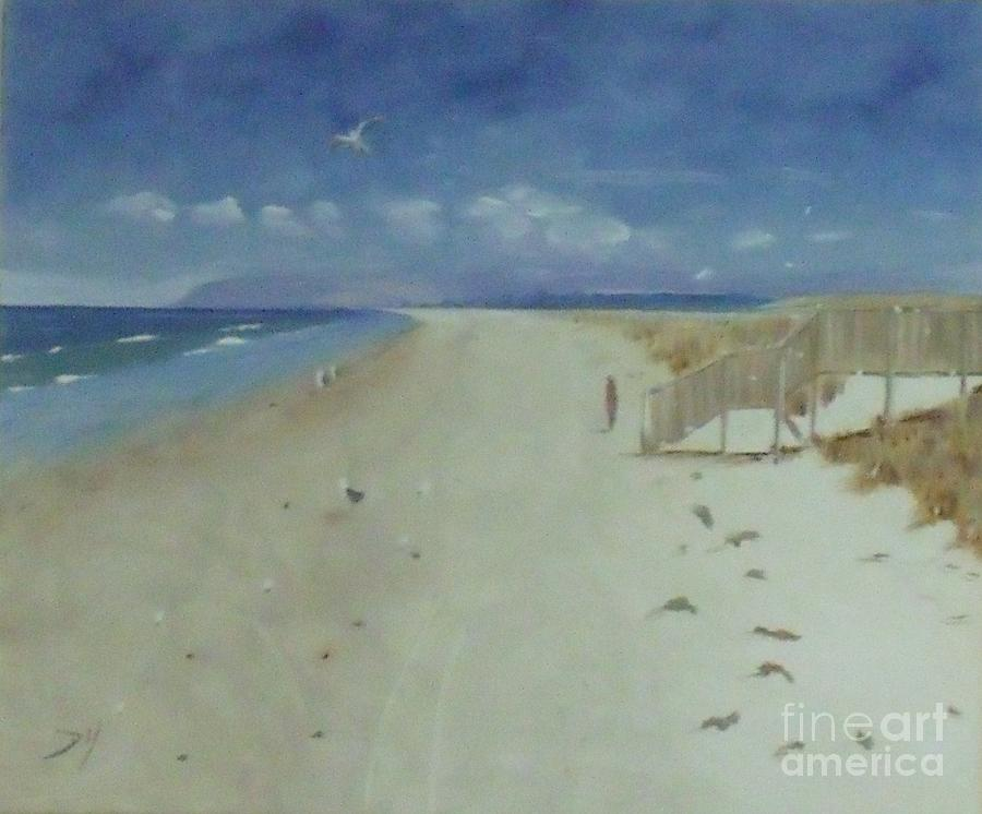 Seascape Painting - Ruakaka Beach by Debra Piro