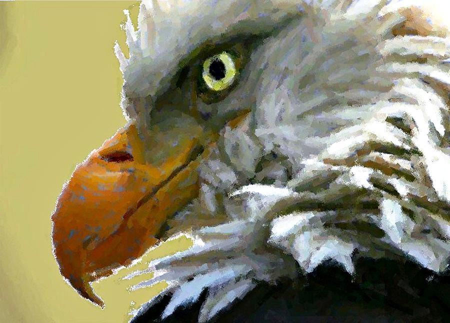 Eagle Digital Art - Eagle Eye by Carrie OBrien Sibley