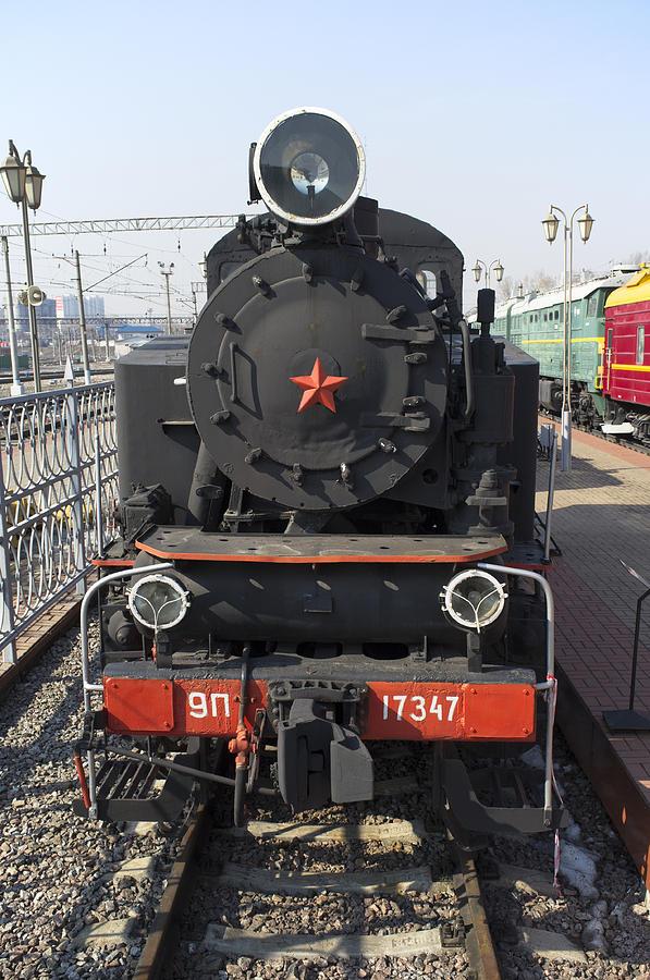 Steam Locomotive Photograph - Russian Steam Locomotive 9p-17347 by Igor Sinitsyn