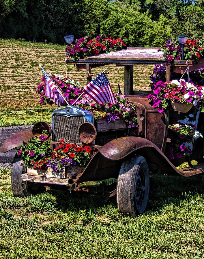 Rusty Flowers II  IMG 5405 Photograph by Torrey E Smith