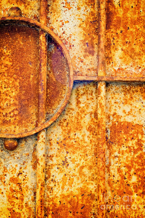 Rusty Photograph - Rusty Gate Detail by Silvia Ganora