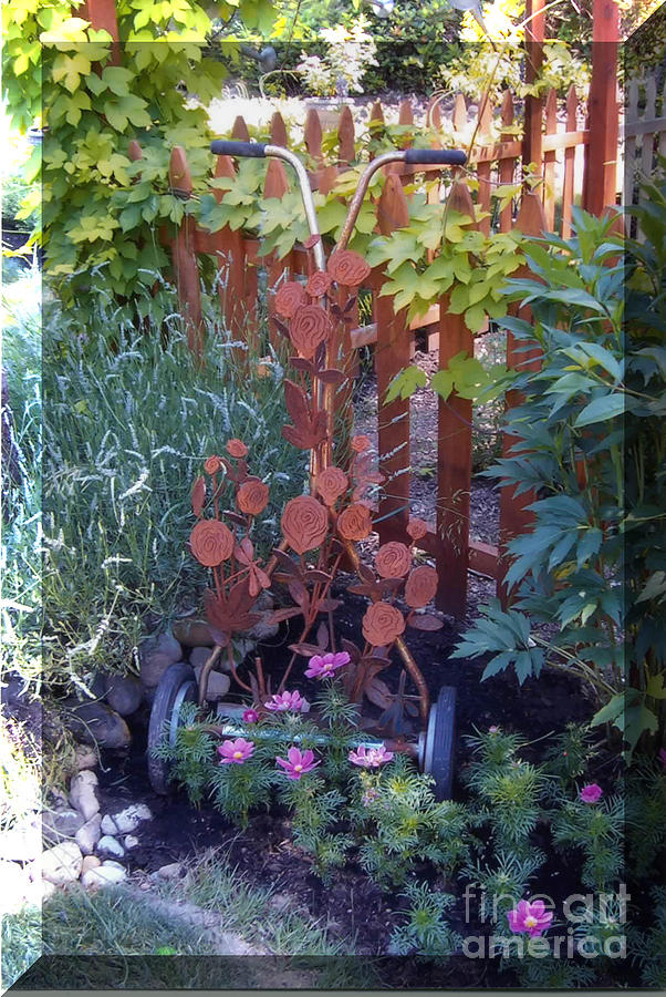 Garden Sculpture - Rusty Rose by JP Giarde