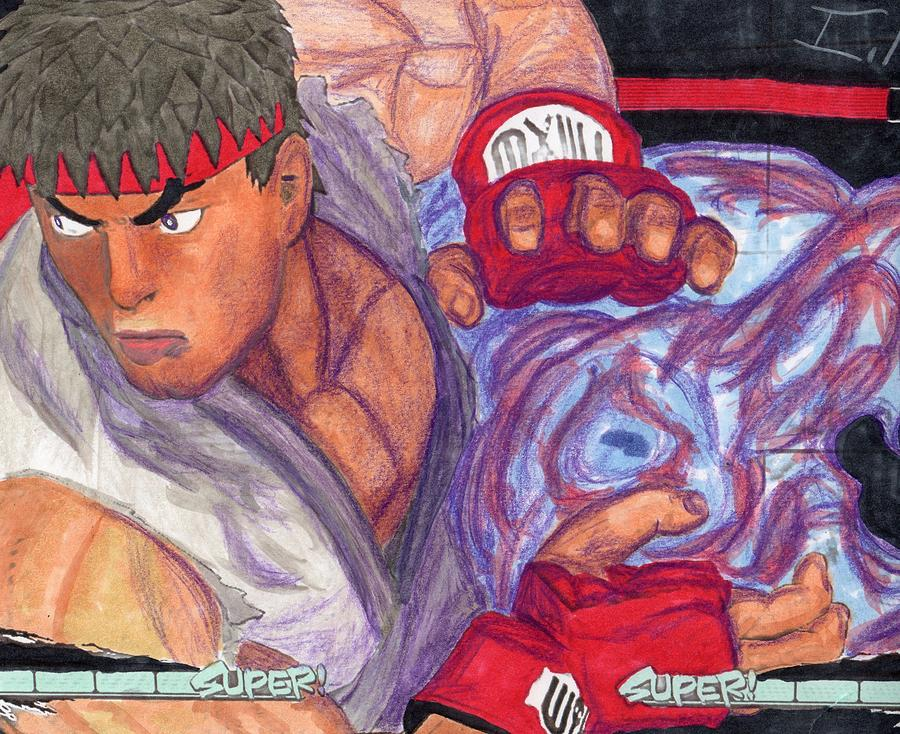 Ryu Drawing By Isaac Mullens