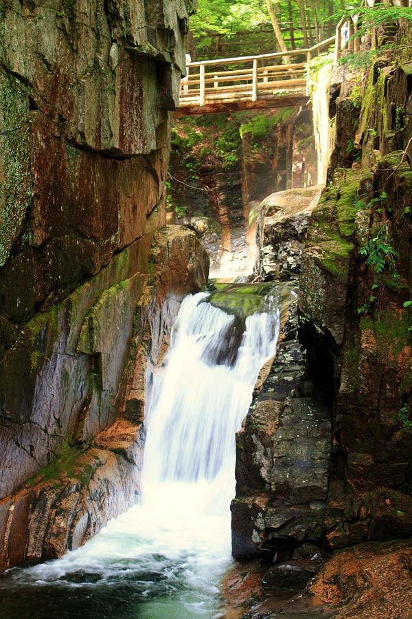Waterfall Photograph - Sabbaday Falls by David Gilman