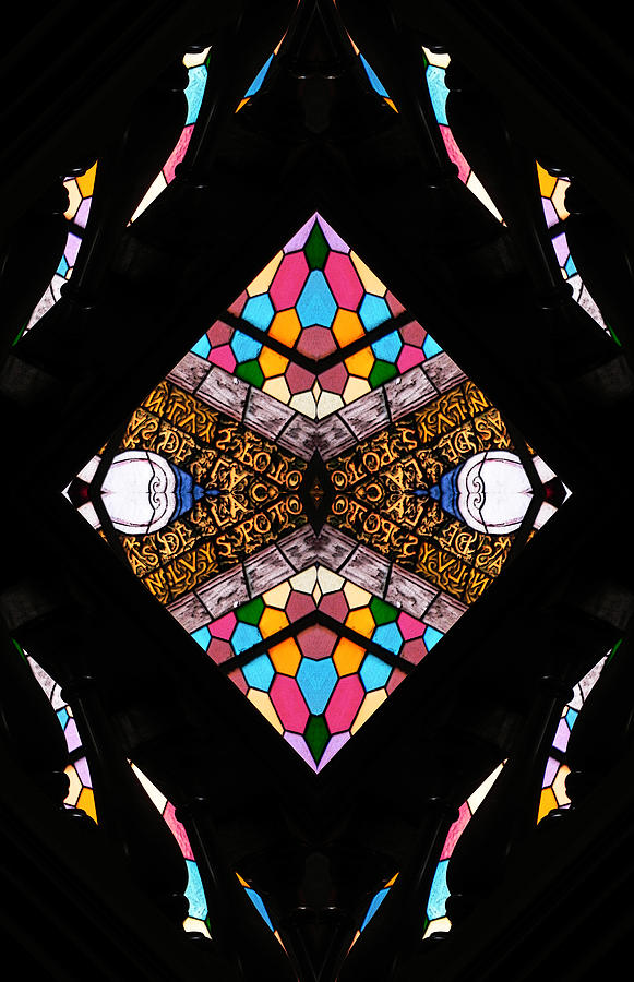 Stained Glass Photograph - Sacred by Jesus Nicolas Castanon