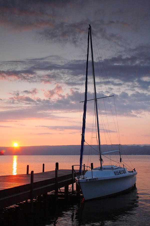 Boat Photograph - Sailboat And Lake II by Steven Ainsworth