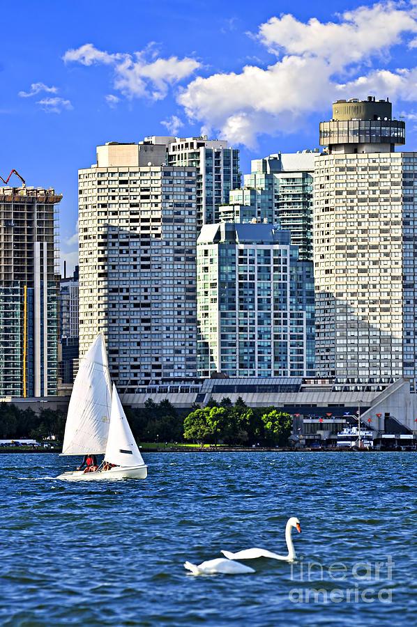 Toronto Photograph - Sailing In Toronto Harbor by Elena Elisseeva