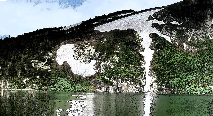Abstract Digital Art - Saint Marys Glacier 1 by Bill Kennedy