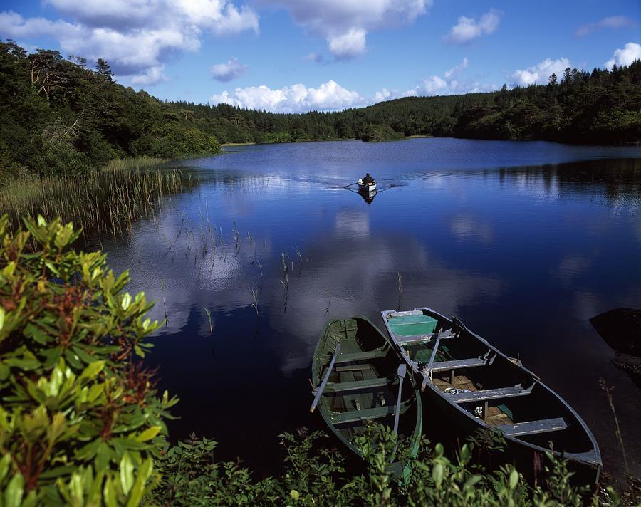 Angling Photograph - Salmon Fishing, Ballinahinch by The Irish Image Collection